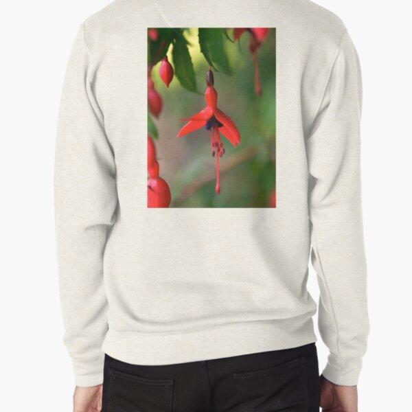 Single Wild Fuchsia Flower, Loch Na Fooey Pullover Sweatshirt