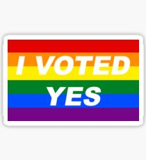 I Voted Yes Sticker Sticker