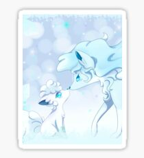 Vulpix Alola and Ninetales Alola Pokémon Sun and Moon Sticker