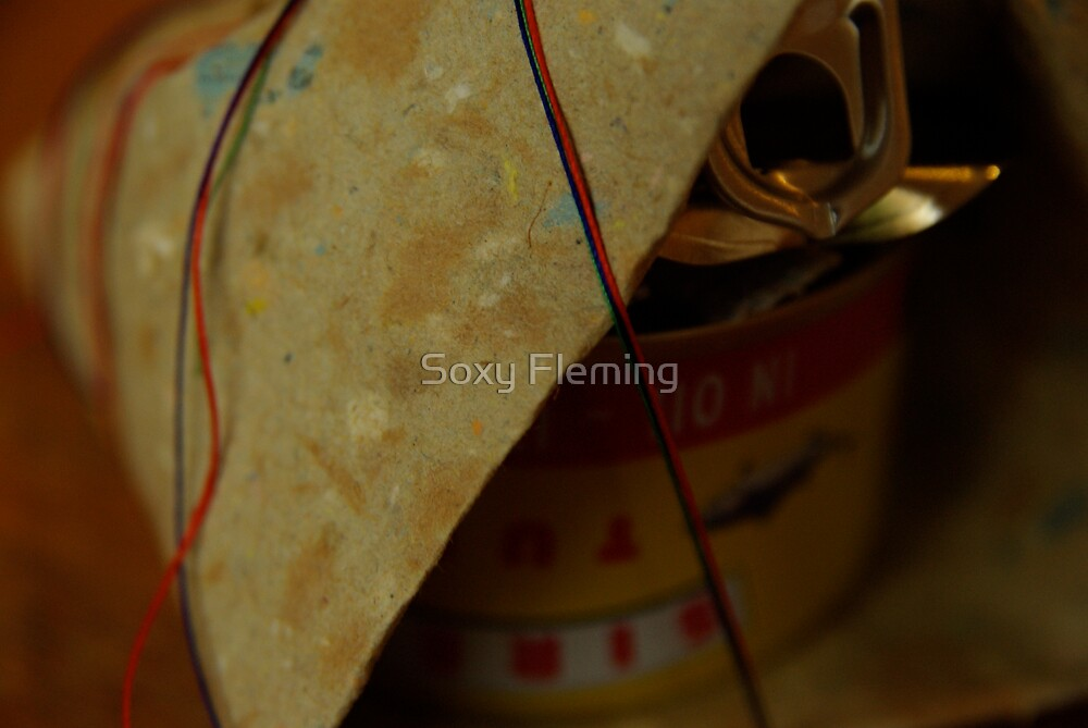 tuna tin packed and wrapped by Soxy Fleming