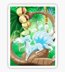 Ninetales Alola and Exeggutor Alola Pokémon Sun and Moon Sticker