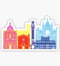 Siena skyline pop Sticker