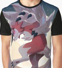 Lycanrock Pokémon Sun and Moon Graphic T-Shirt