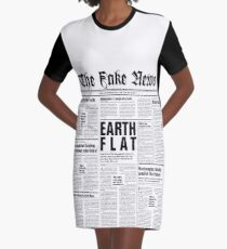 The Fake News Vol. 1, No. 1 Graphic T-Shirt Dress