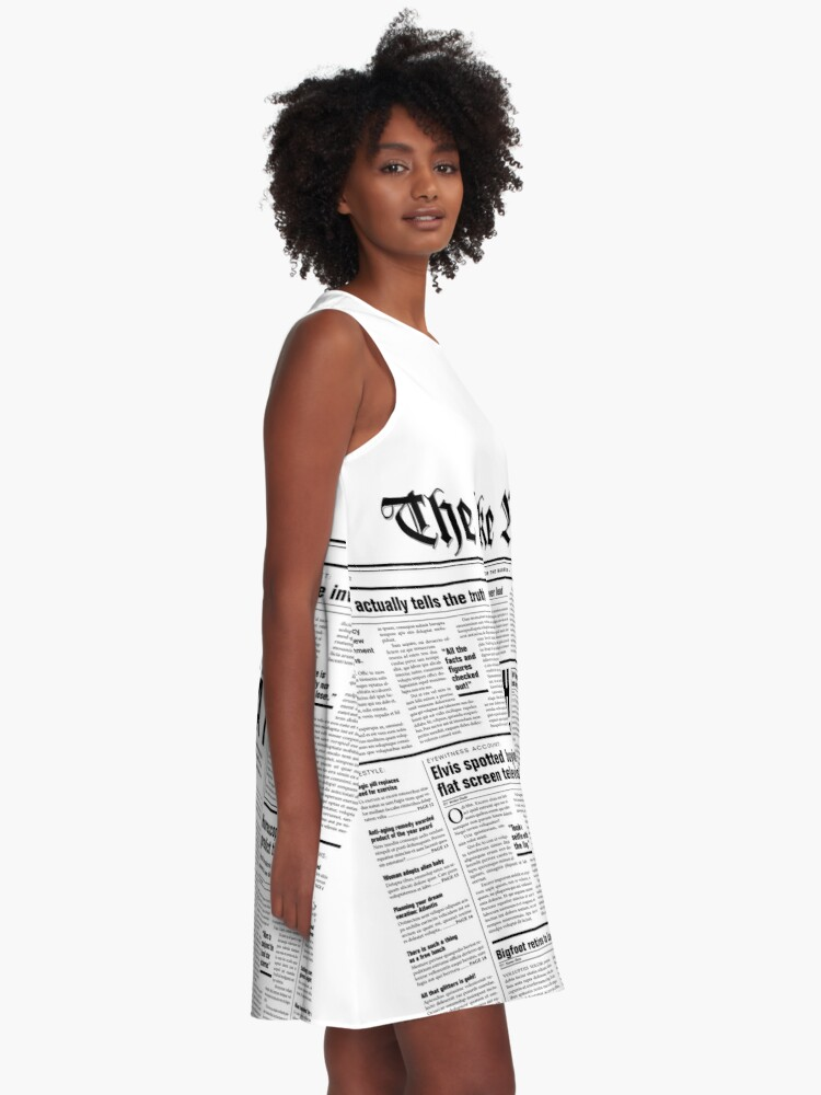 Alternate view of The Fake News Vol. 1, No. 1 A-Line Dress