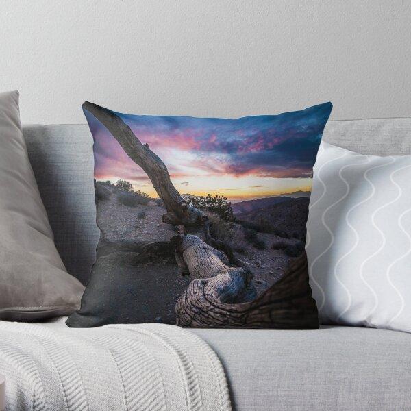 Joshua Tree at sunset Throw Pillow