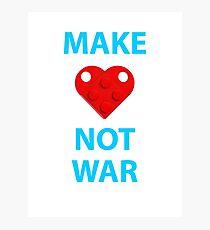 Make Heart Not War Photographic Print