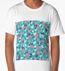 Tropical flowers 2 Long T-Shirt