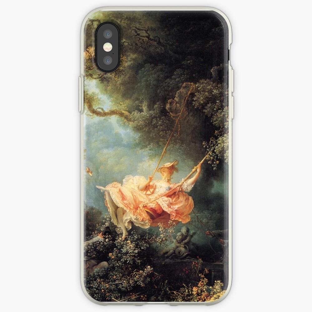 El columpio de Jean-Honoré Fragonard Vinilos y fundas para iPhone