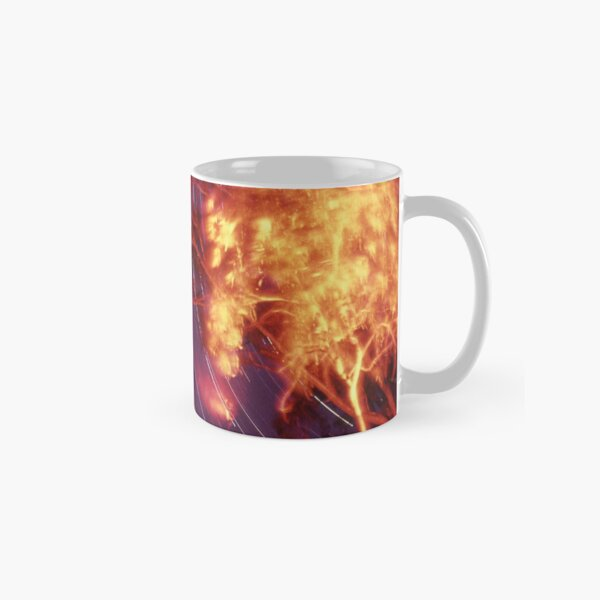 Star trails with 'flaming' trees Classic Mug
