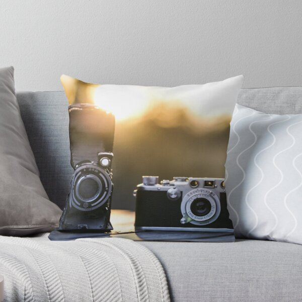Eye of the photographer Throw Pillow