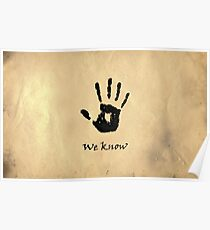 "The Elder Scrolls V: Skyrim - Dark Brotherhood Black Hand ""We Know"" Poster"