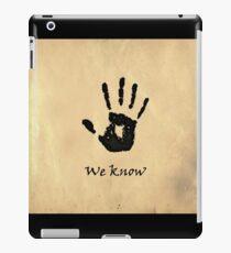 "The Elder Scrolls V: Skyrim - Dark Brotherhood Black Hand ""We Know"" iPad Case/Skin"