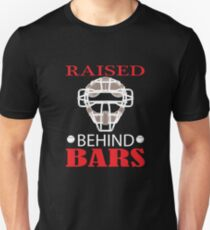 Raised behind bars baseball catchers mask  Unisex T-Shirt