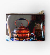 Copper Tea Kettle on Stove Studio Pouch