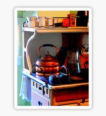Copper Tea Kettle on Stove Sticker