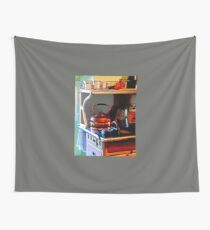 Copper Tea Kettle on Stove Wall Tapestry