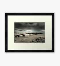 Grantville jetty Framed Print