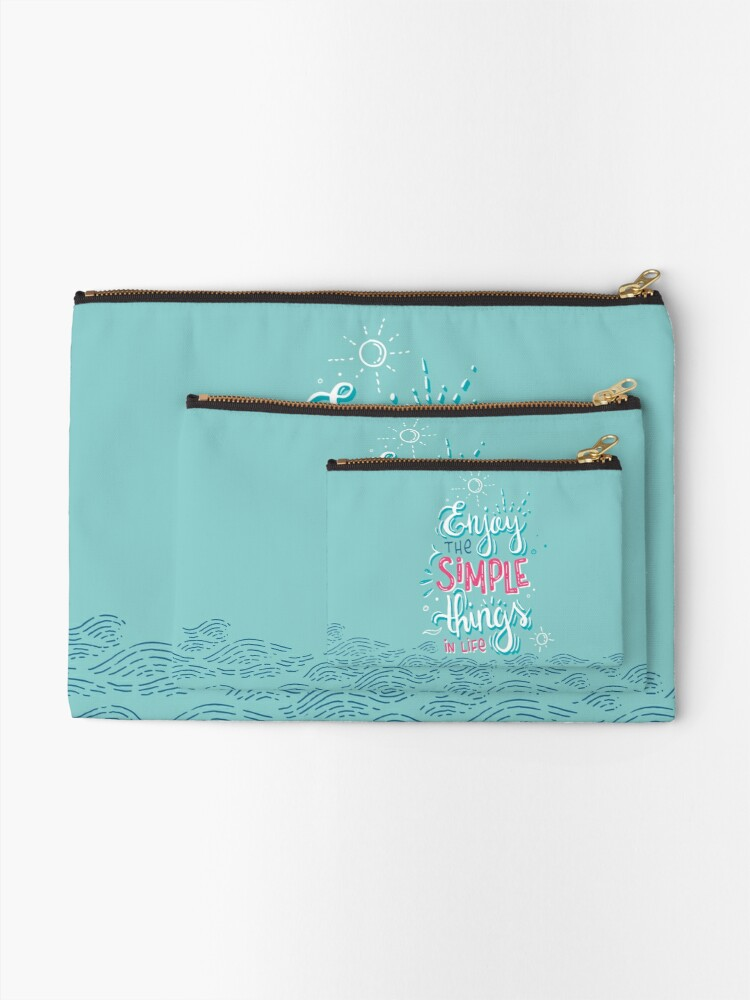 Alternate view of Enjoy the simple things in life - Colorful lettering Zipper Pouch