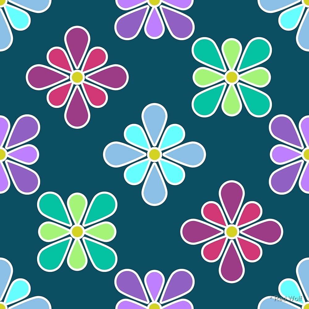 Pastel Multi Flower Pattern by * Red Wolf