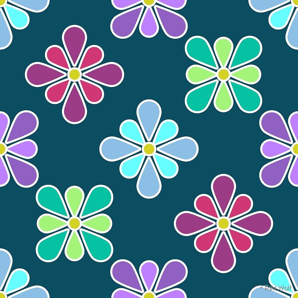 Pastel Multi Flower Pattern by * Red Wolf