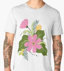 Blooming Colorful Composition Men's Premium T-Shirt