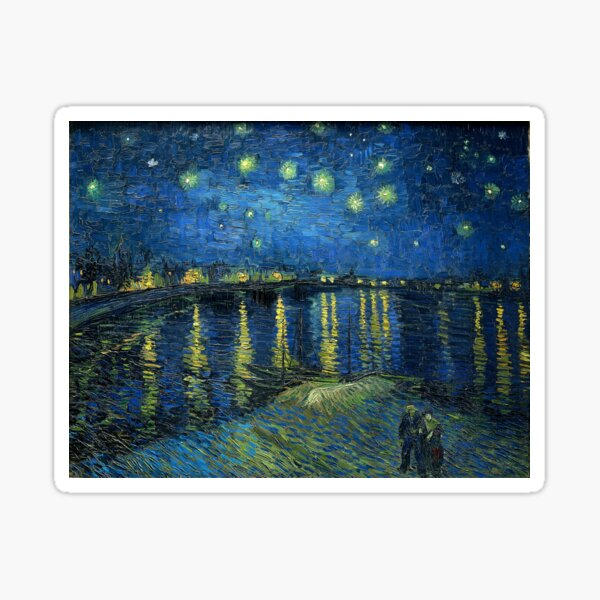 Painting Starry night over the Rhône by Vincent van Gogh Sticker
