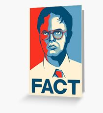 The Office - Dwight Schrute FACT. Poster Art Greeting Card