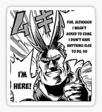 Alles Macht - Ich bin hier! - Mein Held Academia Sticker