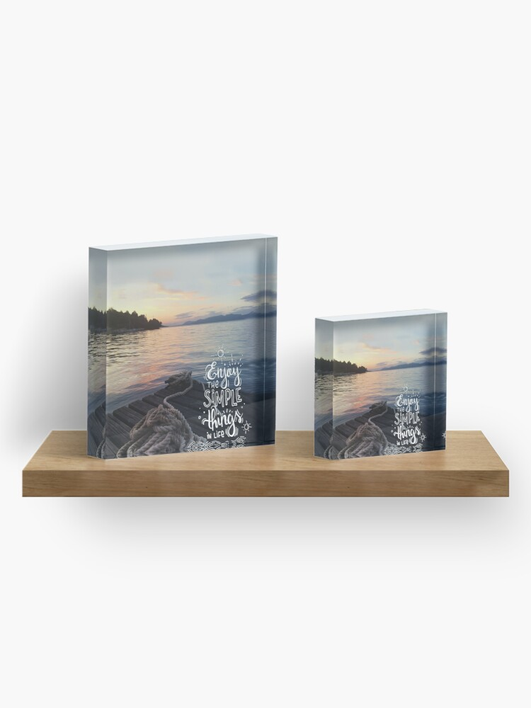 Alternate view of Enjoy the simple things in life - Landscape by the sea Acrylic Block
