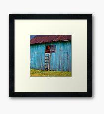 Barn Shadows. Vergennes, Vermont Framed Print