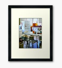 Fifties Kitchen Framed Print