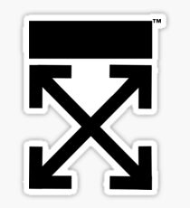 Off-white logo arrows  Sticker