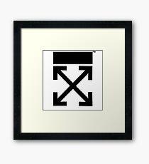 Off-white logo arrows  Framed Print
