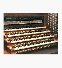 Organ Keyboard Photographic Print
