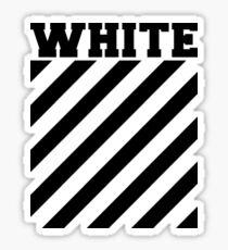 Pegatina Rayas con logotipo blanco roto