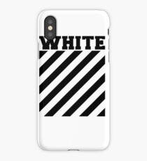 Off-white logo stripes iPhone Case/Skin
