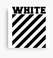 Off-white logo stripes Canvas Print