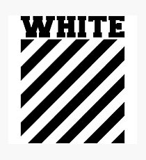 Off-white logo stripes Photographic Print