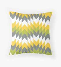 Colour and Grey Contrast Geometric Throw Pillow