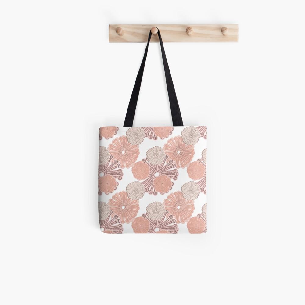 Rose Gold Flower Pattern Tote Bag