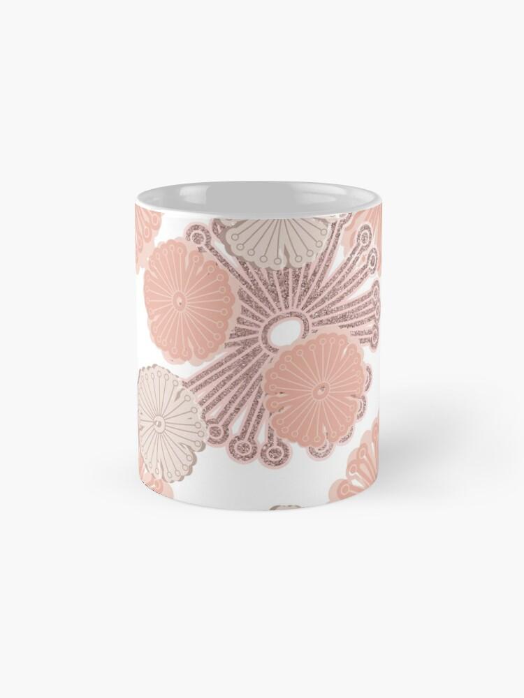 Alternate view of Rose Gold Flower Pattern Mug
