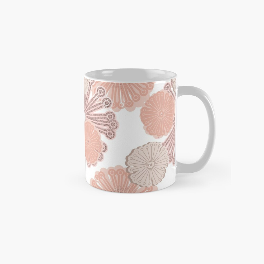 Rose Gold Flower Pattern Mug