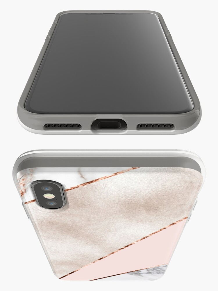Alternate view of Spliced mixed rose gold marble iPhone Case & Cover