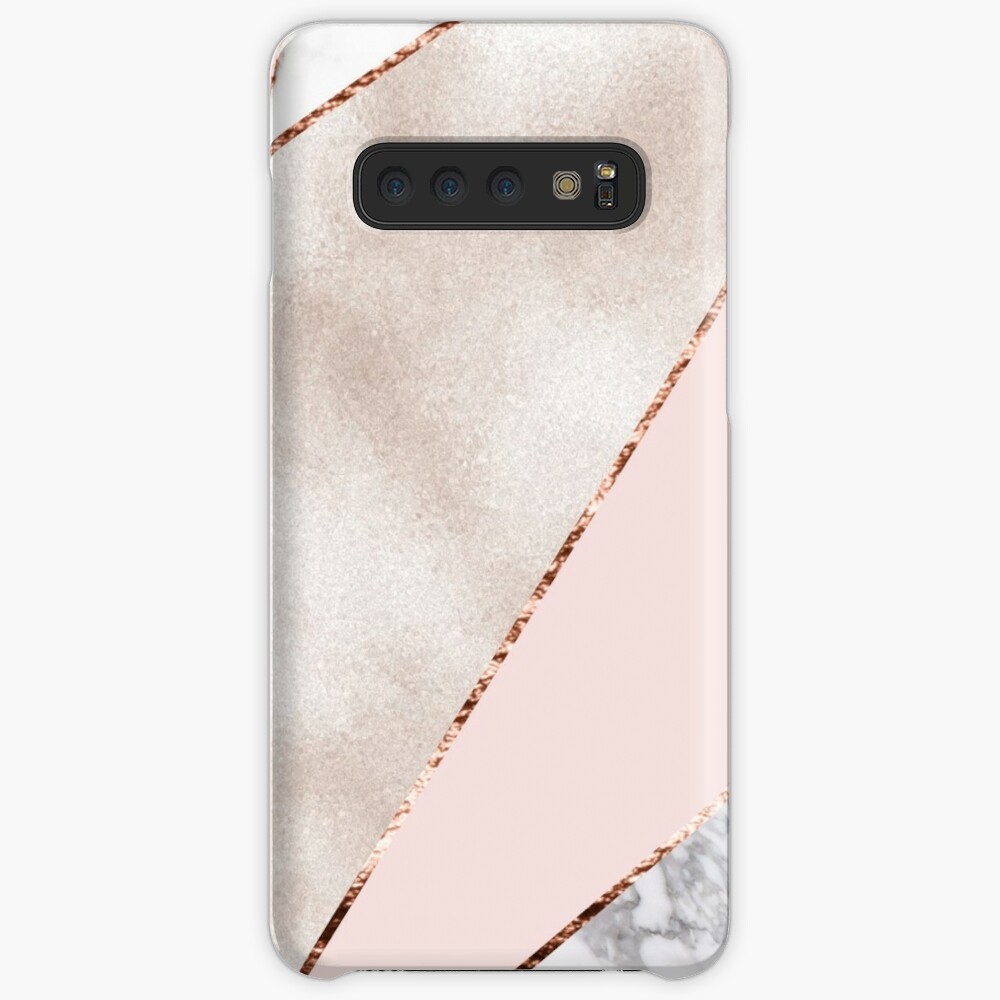 Spliced mixed rose gold marble Cases & Skins for Samsung Galaxy