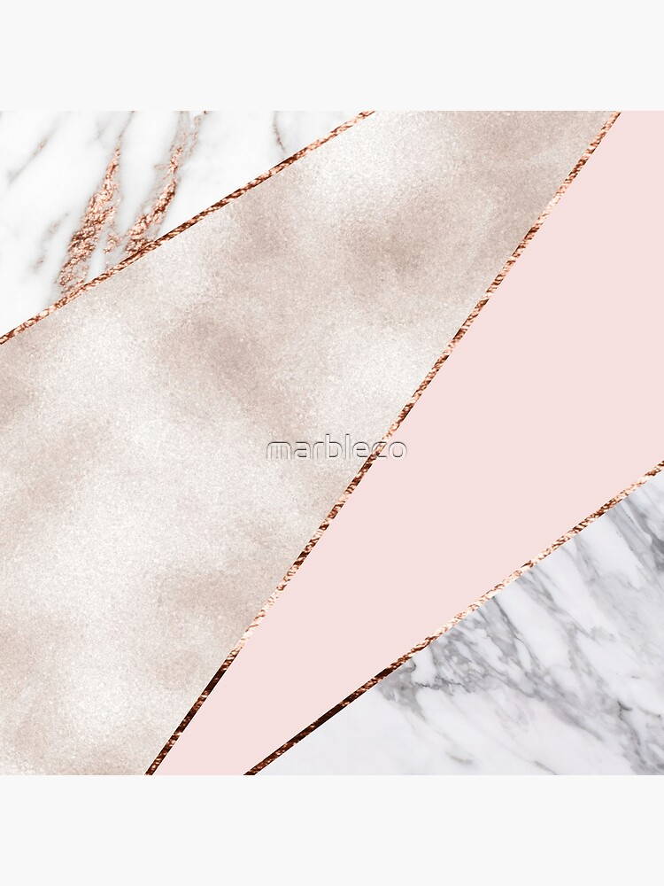Spliced mixed rose gold marble by marbleco