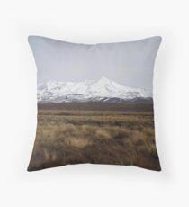 Mt. Ruapehu Throw Pillow