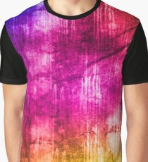 Colourful Grunge Street Art Texture Design Graphic T-Shirt