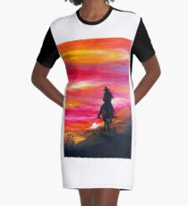 Cowgirl Graphic T-Shirt Dress