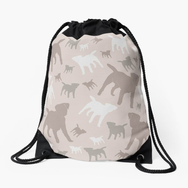 Border Terrier Gifts for Dog Lovers Blush, Nude Silhouette Drawstring Bag